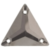 Sew-on Metallic Stones 50pcs 22mm Triangle Gunmetal